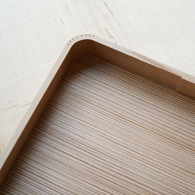 木曽杉 八寸皿(無塗装)