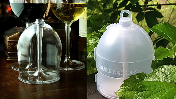 ポータブル・ワイングラス(ガラスのように透明で壊れない)