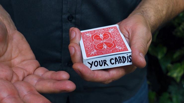 インクオンザデック(選んだカードがデックの縁に現れる)