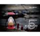 The 5 Elements Bluetoothスピーカー付き山小屋風LEDランタン(レッド)