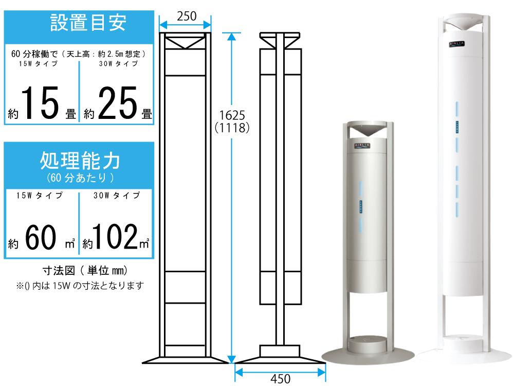 岩崎電気 空気循環式紫外線清浄機 エアーリア 30Wタイプ(シルバー)【FEST30122EL1】