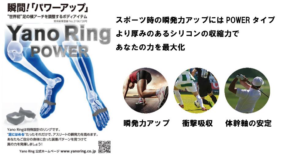 ヤノリング(Yano Ring Power)<br>【スポーツ時の瞬発力アップに、あなたの力を最大化】