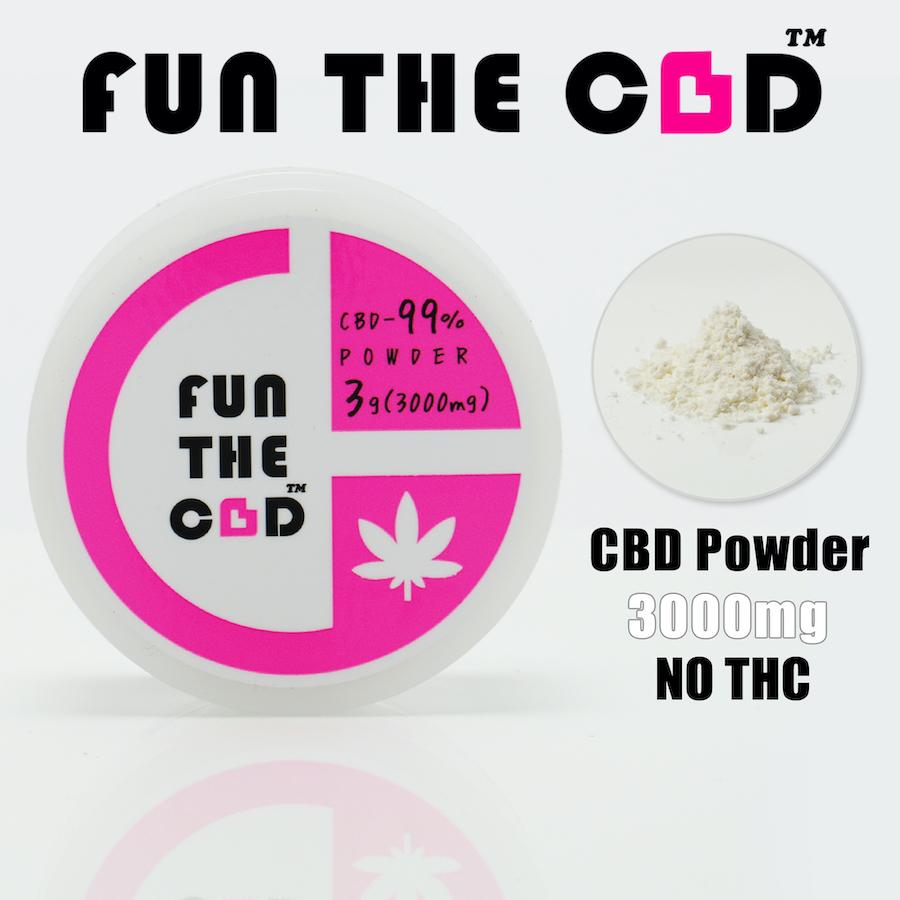 《F-1》CBD-99%-Powder-3g(3000mg)-ISOLATE