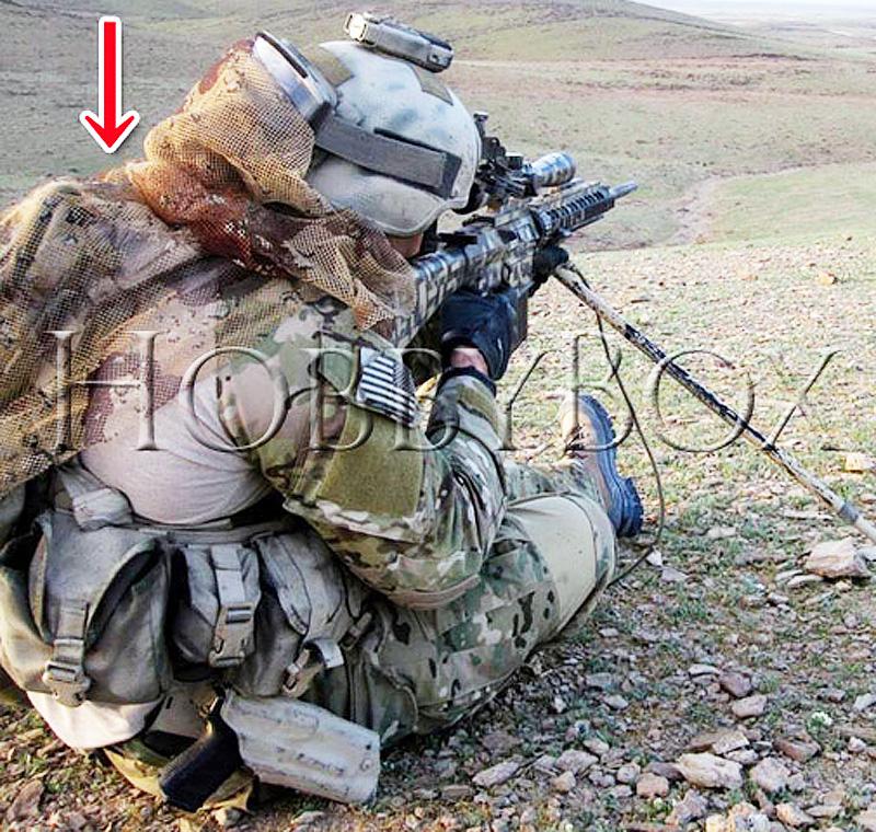 20080375 米軍スタイルのワンポイントに!! 米軍官給品 6C チョコチップ 個人用カモフラージュカバー *NSN:8415-01-282-3160