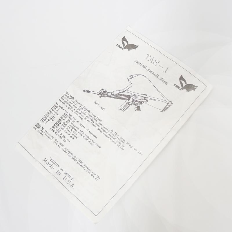 19019520 EAGLE TAS-1 タクティカルアサルトスリング *カーキ/M16シリーズ固定ストックライフル用