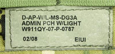 16122611 レア!! EAGLE アドミンポーチ *初期DG3/2008年製造品/DEVGRU・SEAL
