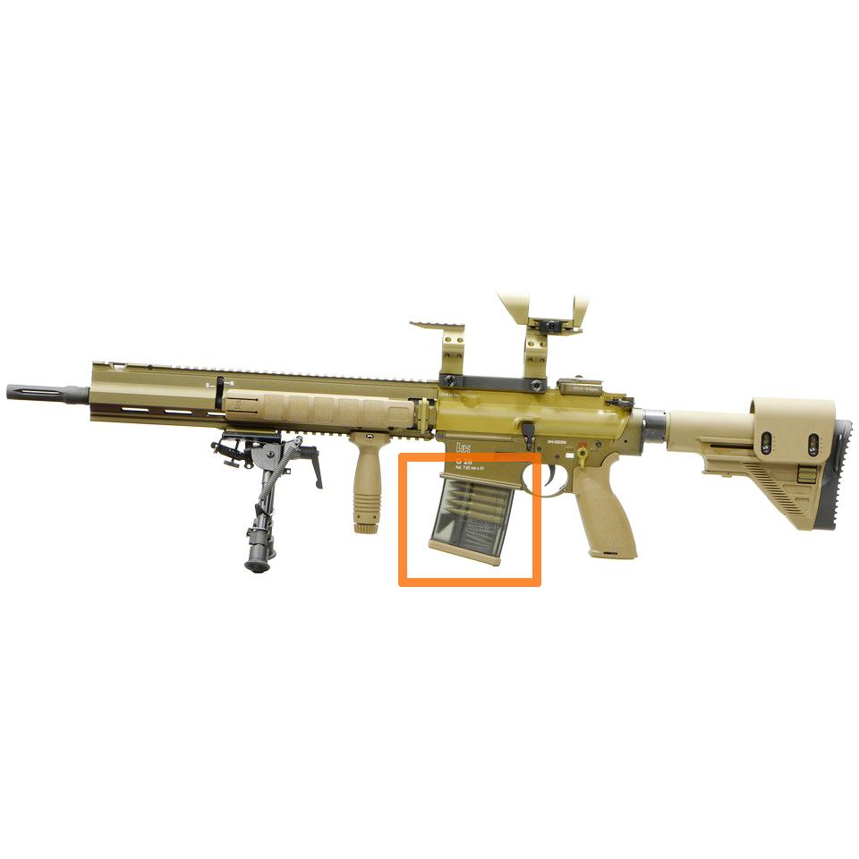 VFC G28/HK417 100連マガジン *タン(RAL8000)/ダミーカートリッジモデル 【品番:VF9-MAG-417E100-TN02】