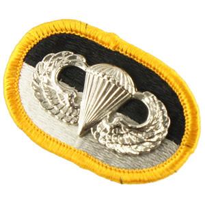 12080985-71 米陸軍SFG放出 JFK特殊戦センター&スクール オーバルパッチ *降下兵章付き
