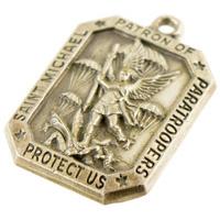 12080985-72 米陸軍SFG放出 US Army 82nd (ABN) St. Michael ペンダントトップ