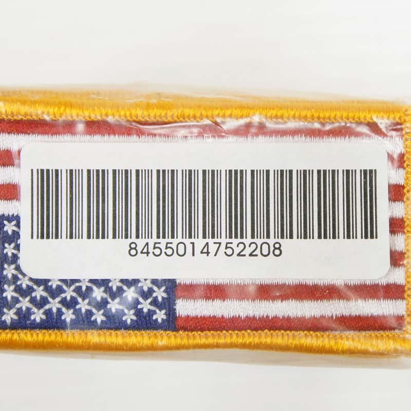 20080329-15 US フラッグパッチ *フルカラー/逆向き/NSN取得品(8455-01-475-2208)