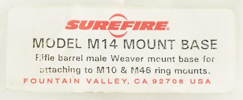 17070685/16102213 レア!! SUREFIRE製 M14 ライフルバレルウィーバーマウント