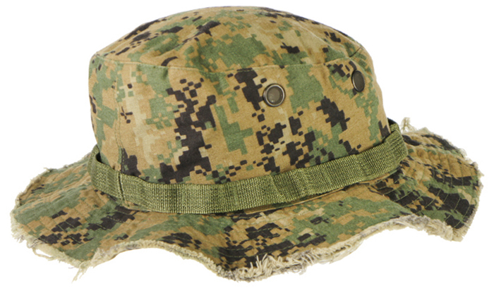 16112238 米軍放出品 官給 ブーニーハット *ウッドランドMARPAT色/Lサイズ/隊員カスタム品