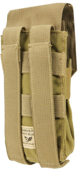 13032343-1 米軍放出品 EAGLE社製 MOLLE SCAR-H ダブルマガジンポーチ *カーキ色