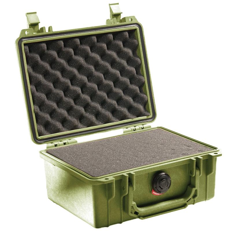 18089214-4 PELICAN 1150 プロテクターケース *グリーン/ピックンプラックフォーム付き