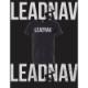 20070177 LEADNAV SYSTEMS「LOWVIS」Tシャツ *ブラック/Sサイズ/ステッカー2枚付き