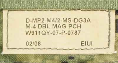 12121881-2 レア!! EAGLE ダブルM4ダブルマガジンポーチ *DG3/2008年2月製造品/DEVGRU・SEAL