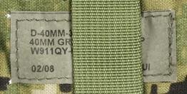 12121876-2 レア!! EAGLE トリプル40mmグレネードポーチ *DG3/2008年2月製造品/DEVGRU・SEAL