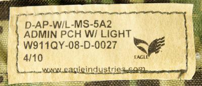 15050631-24 激レア!! SEAL放出品 EAGLE製 MOLLE ライトホルダー付きアドミンポーチ *AOR2色