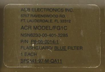 16112311 米軍放出品 官給 ACR MODEL/FG1C SDU-5/E用 ブルーフィルター