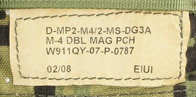 12121881-1 レア!! EAGLE ダブルM4ダブルマガジンポーチ *DG3/2008年2月製造品/DEVGRU・SEAL