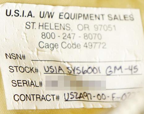 17040378 激レア!! 米軍放出品 USIA製 SYS6001 GM-45 完全防水レッグポーチ *タン色