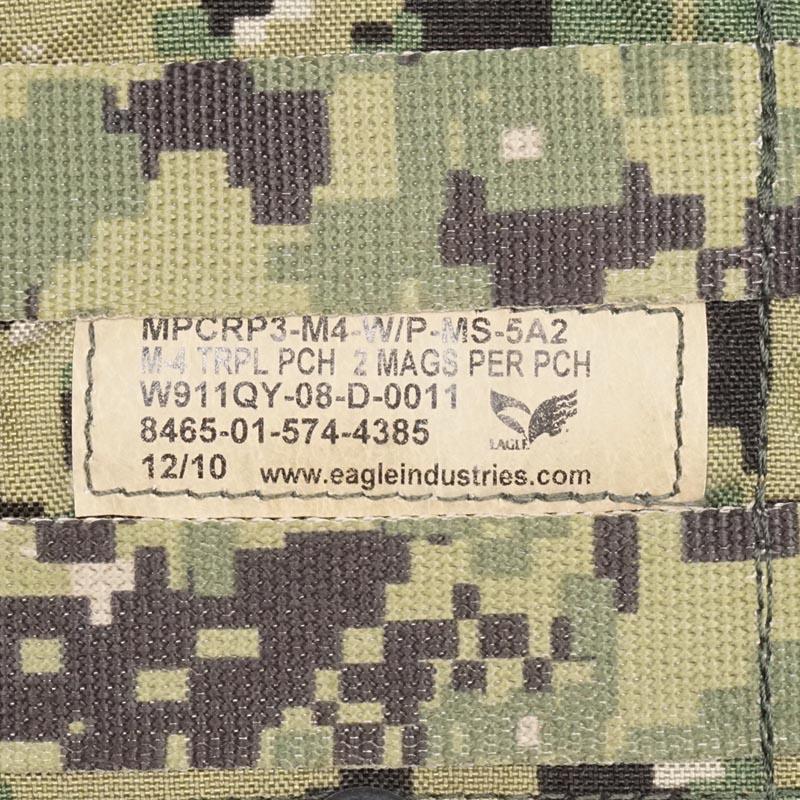 20080307-1 EAGLE MPCR トリプルM4ダブルマガジンポーチ *AOR2/2010・2011年製/NAVY SEAL 20090409-1