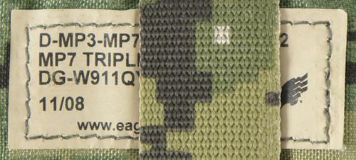 17060605 レア!! EAGLE製 MOLLE トリプルMP7シングルマガジンポーチ *AOR2色/2008年/カイデックス
