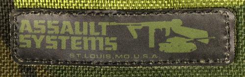 17010123-1 レア!! ASSAULT SYSTEMS製 スモールユーティリティーバッグ *ウッドランド色