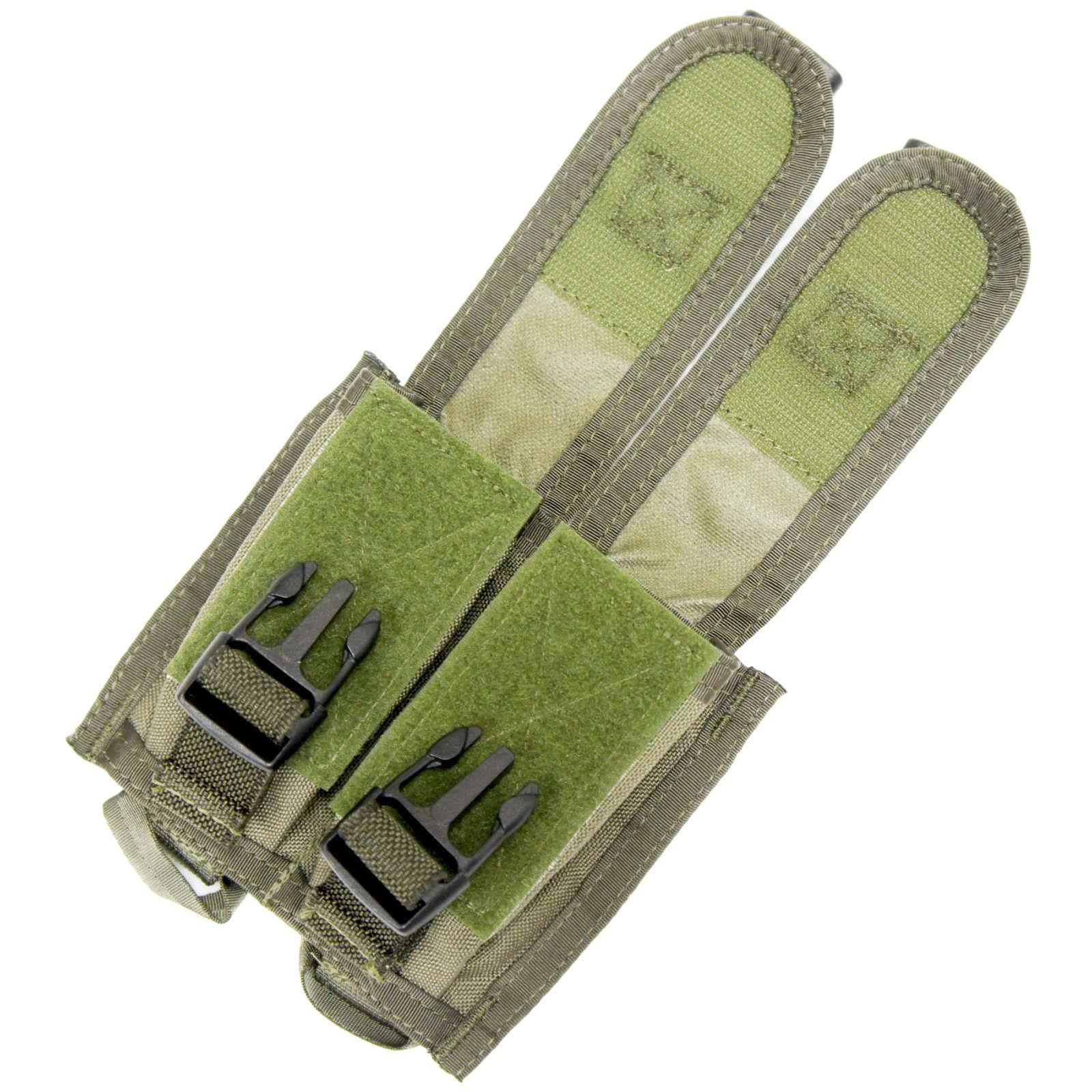 20070228 PARACLETE AGL0019 ダブル40mmグレネードポーチ *スモークグリーン/2003年製バックル