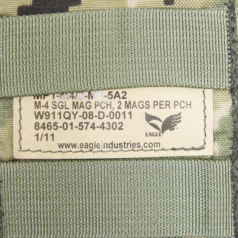 20080307-5 EAGLE シングルM4ダブルマガジンポーチ *AOR2/2011年製/NAVY SEAL