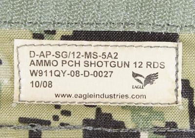 17040425 レア!! EAGLE製 MOLLE 12rd ショットガンアモポーチ *AOR2色/2008年