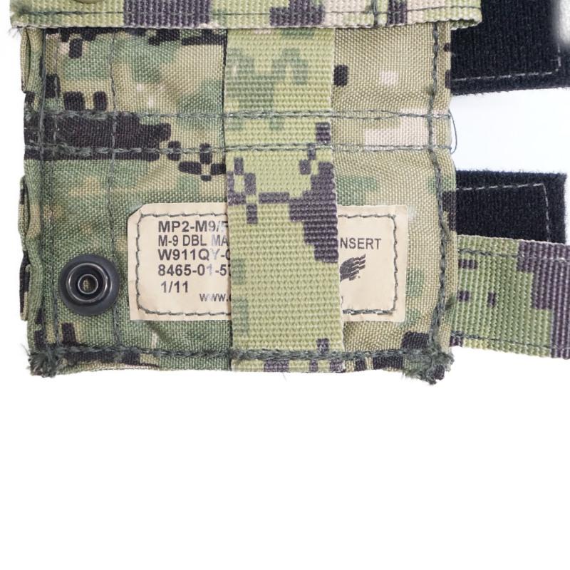 18129276 EAGLE ダブル9mmハンドガンマガジンポーチ *AOR2/カイデックス内蔵