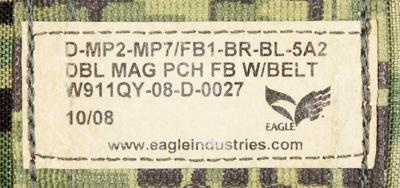 17040428 レア!! EAGLE製 ダブルMP7シングルマガジンベルトポーチ *AOR2色/2008年/カイデックス
