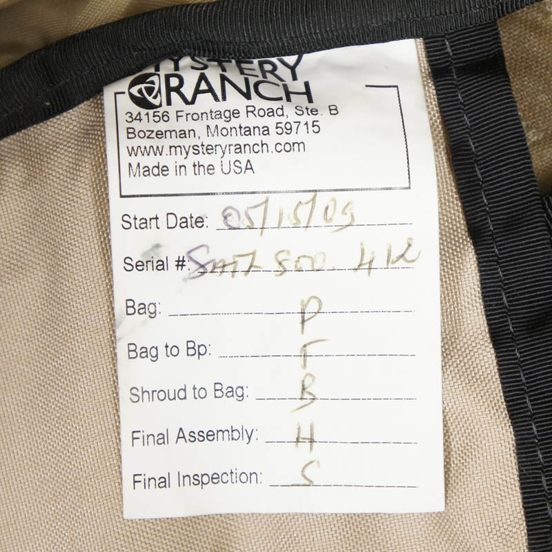20080305 MYSTERY RANCH SATL ブリッジャーアサルトパック *コヨーテ/旧型/Mサイズ/容量57 L.