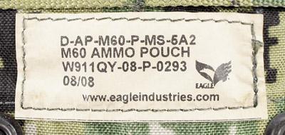 17040432 激レア!! EAGLE製 MOLLE M60 100rd アモポーチ *AOR2色/2008年