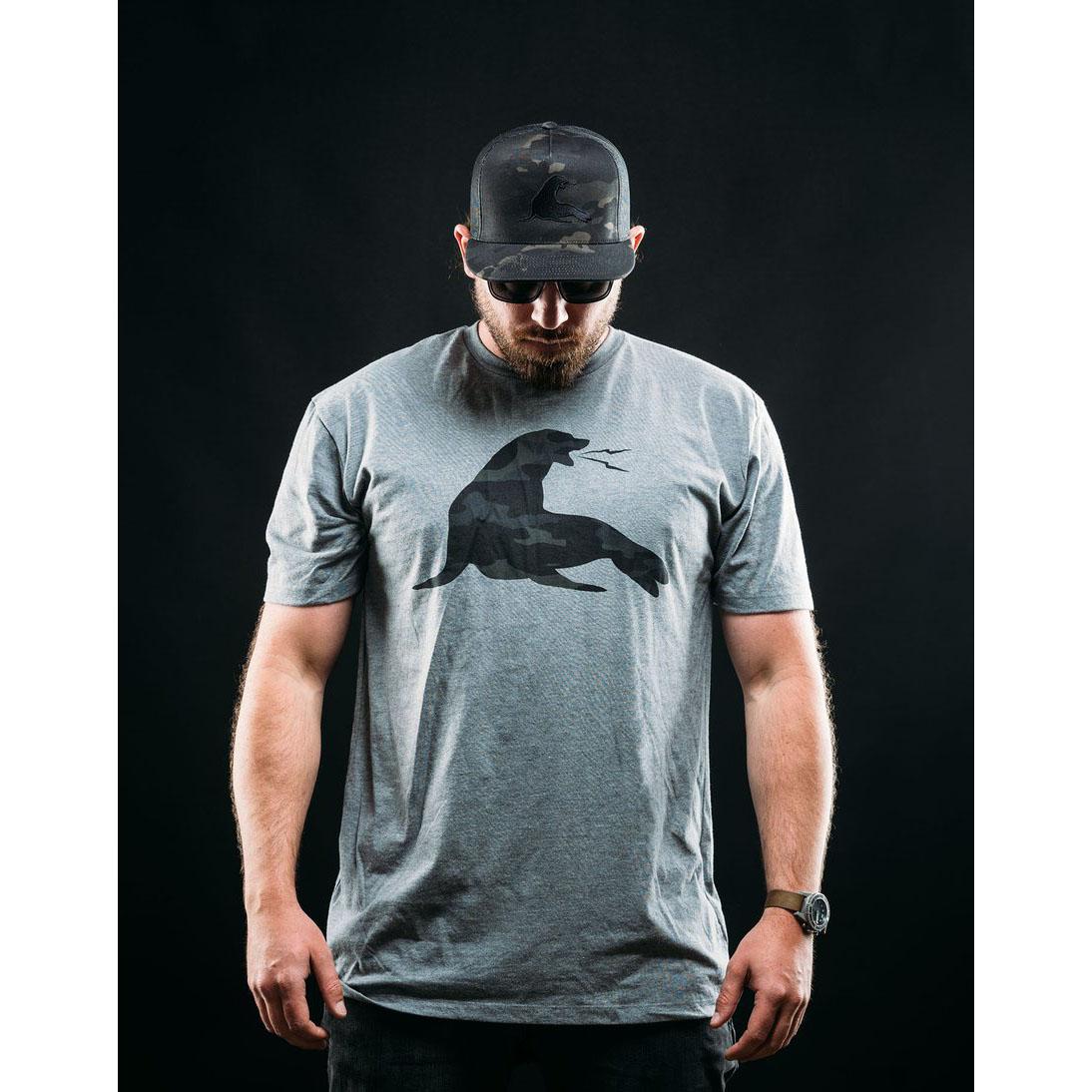 21030528-17 URT CLOTHING ビッグURT Tシャツ *グレー・マルチカムブラック/Sサイズ
