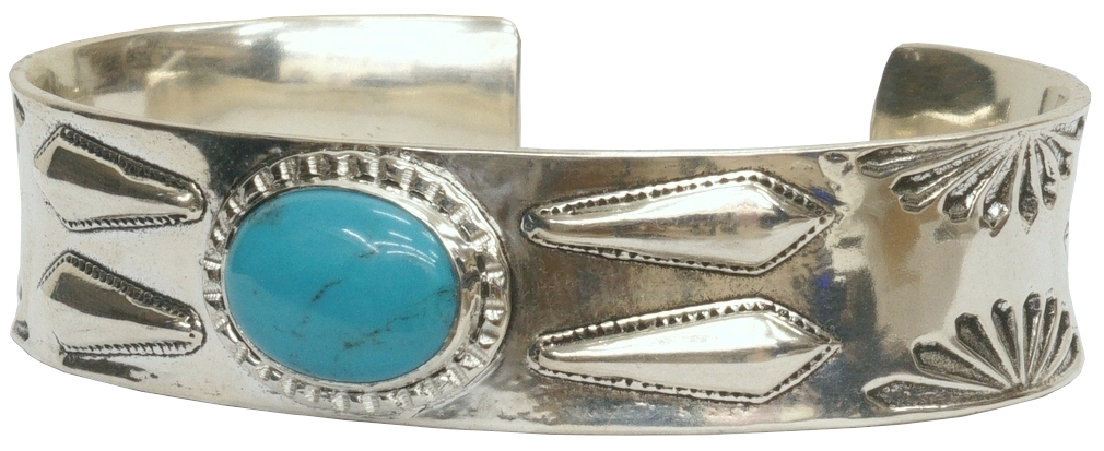 LHN Jewelry ハンドメイド ナバホ スターリングシルバー製 バングル