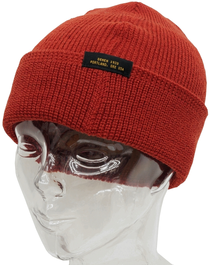 Dehen 1920(デーヘン) Made In USA ウール ニット ウォッチ キャップ レッド メンズ アメリカ製 Wool Knit Watch Cap Foster Red