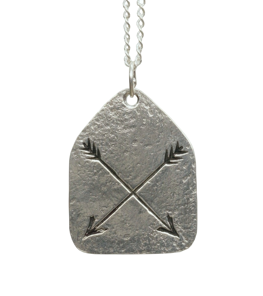 LHN Jewelry(エルエイチエヌ ジュエリー) 米国製 ハンドメイド アロー ネックレス シルバー Arrow Charm Necklace Silver