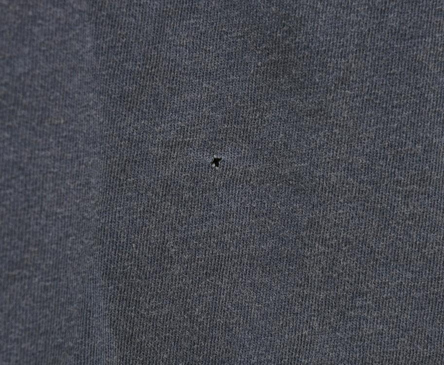 訳あり RUGBY(ラルフローレン ラグビー) ロゴ プリント ヴィンテージ加工 Tシャツ ブルー M