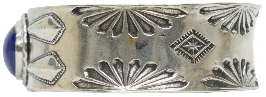 LHN Jewelry(エルエイチエヌ ジュエリー) ハンドメイド ナバホ スターリングシルバー x ラピス バングル � Navajo Cuff Silver