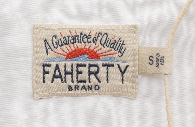 FAHERTY BRAND (ファリティ ブランド) アメリカ製コットン使用 ヘンリー ホワイト メンズ Slub Cotton Henley White