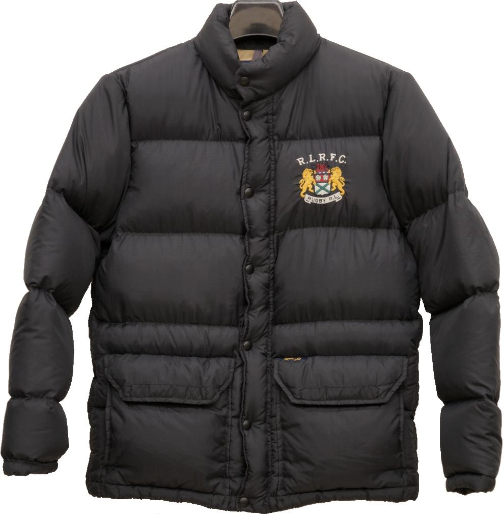 RUGBY(ラグビー)ラルフローレン エンブレム ダウンジャケット ブラック Down Jacket