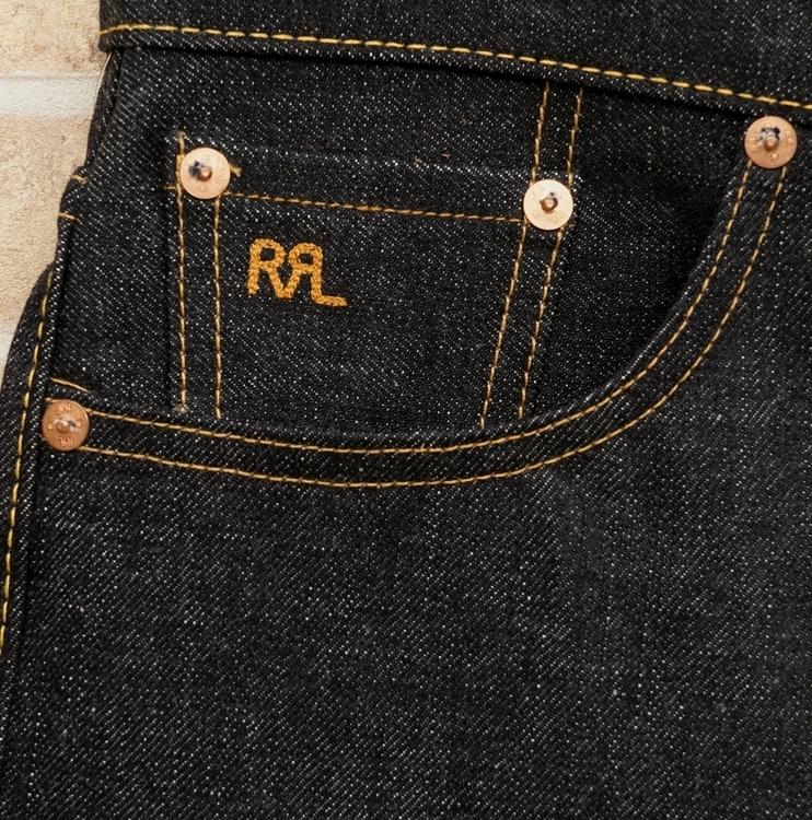 (ダブルアールエル) RRL 岡山産デニム使用 耳付き リジッド ストレート ジーンズ  メンズ Rigid Selvedge Jean