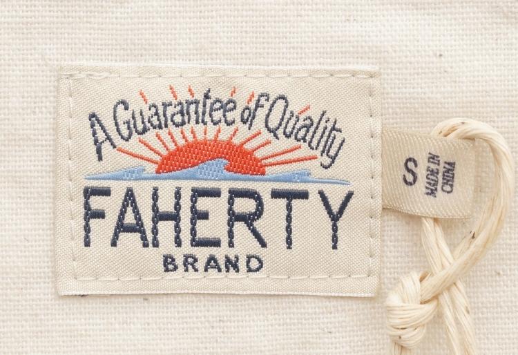 FAHERTY BRAND (ファリティ ブランド) 半袖 ヘンリー ホワイト 天然コロゾボタン メンズ Short Sleeve Heather Henley White