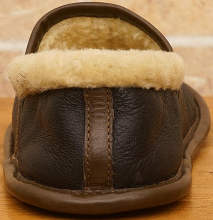 (ダブルアールエル) RRL イタリア産毛皮使用 レザー シャーリング ルームシューズ スリッパ Shearling Camp Shoe