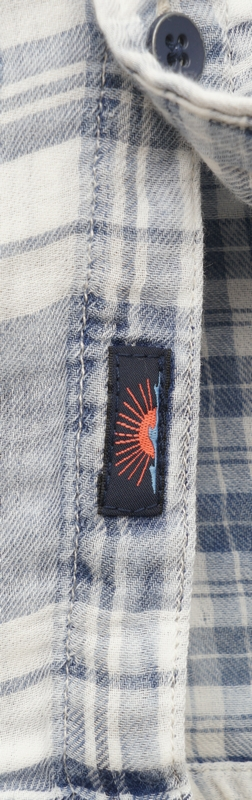 FAHERTY BRAND (ファリティ ブランド) 本藍染め スリムフィット チェックシャツ インディゴ メンズ Indigo Nautilus Plaid