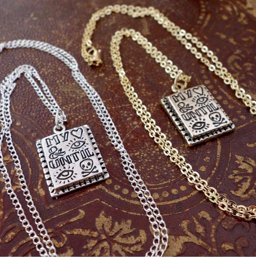 LHN Jewelry(エルエイチエヌ ジュエリー) アメリカ製 ハンドメイド ネックレス My heart and I until I die neckless ユニセックス シルバー製 Silver