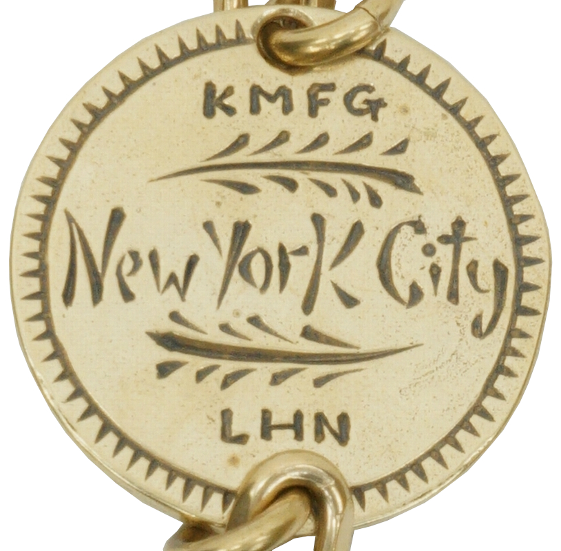 LHN Jewelry (エルエイチエヌ ジュエリー) キーリング � Flaming Hearts ウォレットチェーン キーホルダー メンズ Key Ring / Wallet Chain Brass