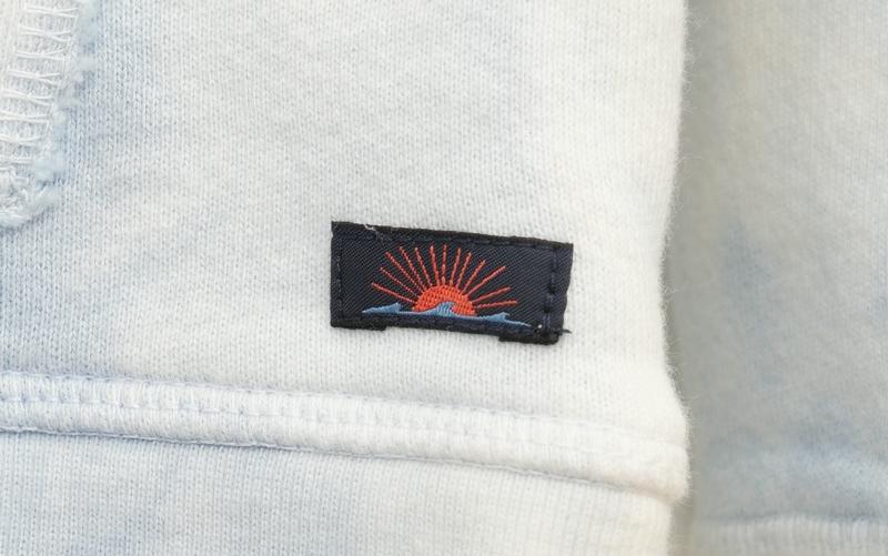 FAHERTY BRAND (ファリティ ブランド) タイダイ フーディ パーカ ブルー x ホワイト 絞り染め L メンズ Tie Dye Hoodie Pacific Mist